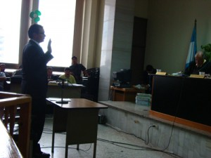 Daniel Guzmán testifies in the case of Edgar Fernando García.