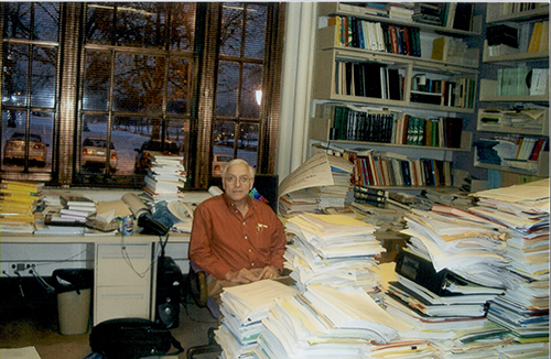 Fienberg in his office at Carnegie Mellon University.